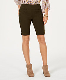 Style & Co Pull-On Denim Bermuda Shorts, Created for Macy's
