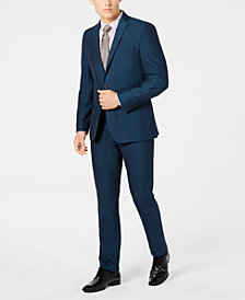 Bar III Men's Slim-Fit Stretch Teal Suit Separates, Created for Macy's