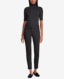 Ralph Lauren Petite Striped Ponté-Knit Pants