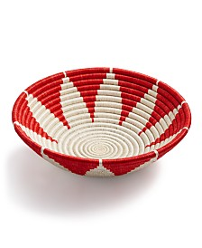 Global Goods Partners Sunburst Woven Decorative Bowl