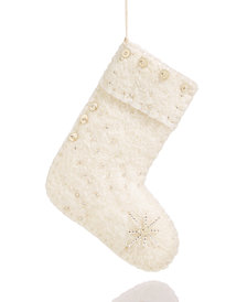 Global Goods Partners Embellished Felt Sock Ornament