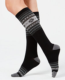 Charter Club Women's Fair Isle Knee-High Socks, Created for Macy's