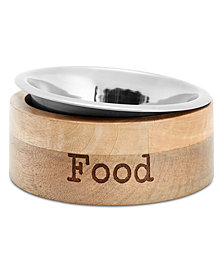 "Lacourte Pet ""Food"" Wooden Bowl"