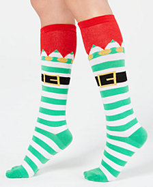 Charter Club Women's Elf Stripe Knee-High Socks, Created for Macy's