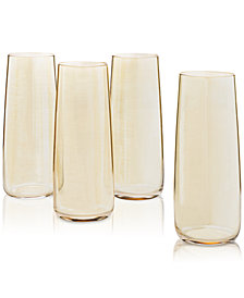 Lucky Brand Luster 4-Pc. Flute Set