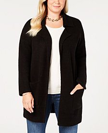 Style & Co Plus Size Sweater Blazer, Created for Macy's