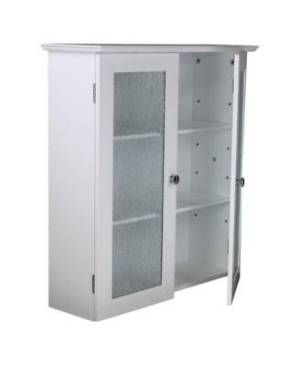 ... Elegant Home Fashions Connor Wall Cabinet With 2 Glass Doors ...