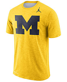 Nike Men's Michigan Wolverines Dri-Fit Cotton Slub T-Shirt