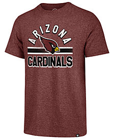 '47 Brand Men's Arizona Cardinals Team Stripe Match Tri-Blend T-Shirt