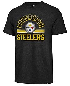 '47 Brand Men's Pittsburgh Steelers Team Stripe Match Tri-Blend T-Shirt