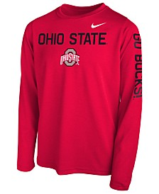 Nike Ohio State Buckeyes Legend Long Sleeve T-Shirt, Big Boys (8-20)