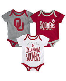 Outerstuff Oklahoma Sooners Newborn Lil Tailgater 3 Piece Set, Infants (0-9 Months)