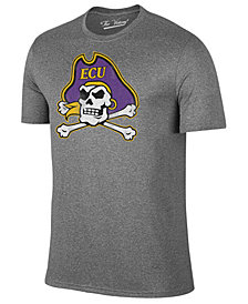 Retro Brand Men's East Carolina Pirates Alt Logo Dual Blend T-Shirt