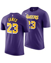 303c00a0bd6 Nike LeBron James Los Angeles Lakers Statement Name and Number T-Shirt