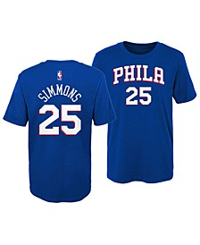 Ben Simmons Philadelphia 76ers Replica Name and Number T-Shirt, Little Boys (4-7)
