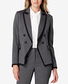 Tahari ASL Petite Double-Breasted Jacket