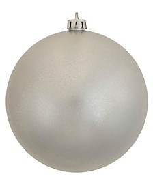 "6"" Silver Candy Ball Christmas Ornament, 4 per Bag"