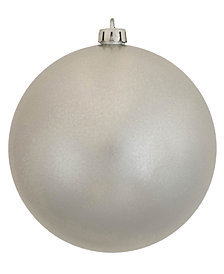 "Vickerman 6"" Silver Candy Ball Christmas Ornament, 4 per Bag"