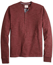 Brooks Brothers Red Fleece Men's Brushed Long-Sleeve Henley