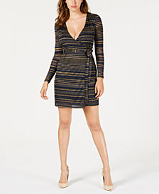 GUESS Vivienne Striped Wrap Dress