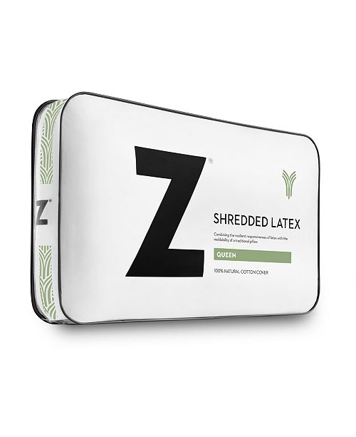 Malouf Z Shredded Latex King Pillow With Bamboo Cover