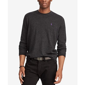 Ralph Lauren Men's Merino Wool Crew-Neck Sweater