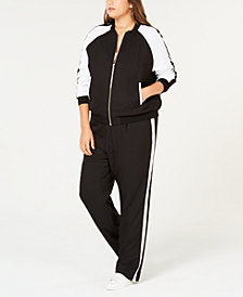 MICHAEL Michael Kors Plus Size Bomber Jacket & Track Pants