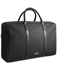 Receive a Complimentary Weekender Bag with any large spray purchase from the Hugo Boss Men's fragrance collection