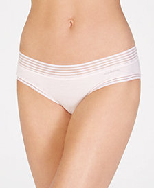 Calvin Klein Striped-Waist Hipster QD3672