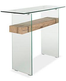 Kayley Rectangular Glass Console Table, Quick Ship