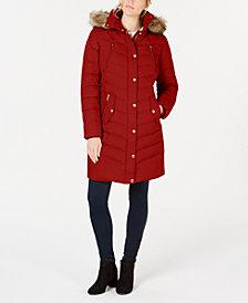 MICHAEL Michael Kors Faux-Fur-Trim Hooded Puffer Coat, Created for Macy's