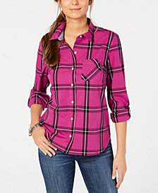 Tommy Hilfiger Plaid Button-Front Shirt, Created for Macy's