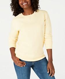 Karen Scott Petite Crew-Neck Sweatshirt, Created for Macy's