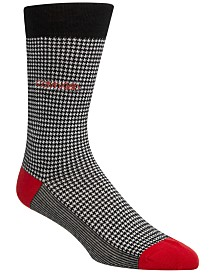 Calvin Klein Men's Houndstooth Crew Socks