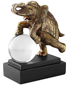 Uttermost Circus Act Gold Elephant Bookends Set of 2