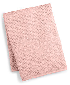 LAST ACT! Juliette LaBlanc Cotton Zig-Zag Textured Bath Towel