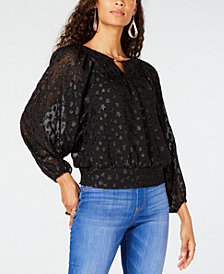 Thalia Sodi Embellished Dolman-Sleeve Top, Created for Macy's