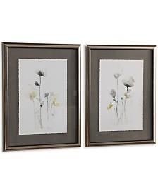 Uttermost Stem Illusion Floral Art Set of 2