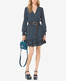 MICHAEL Michael Kors Ruffled Space-Dyed Dress