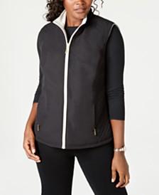 Karen Scott Reversible Vest, Created for Macy's