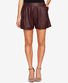 CeCe Faux-Leather Shorts