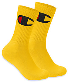 Champion Men's Big-Logo Crew Socks
