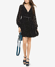 MICHAEL Michael Kors Metallic Burnout Dress