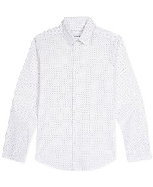 Calvin Klein Big Boys Dot-Print Shirt