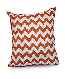 16 Inch Coral Decorative Chevron Throw Pillow