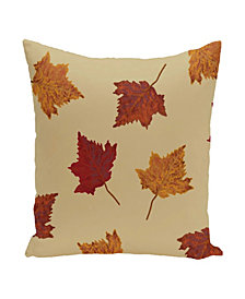 16 Inch Gold Decorative Floral Throw Pillow
