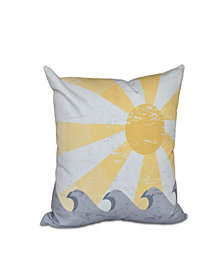 Sunbeams 16 Inch Yellow Decorative Nautical Throw Pillow
