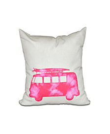 BeachDrive 16 Inch Pink Decorative Nautical Throw Pillow