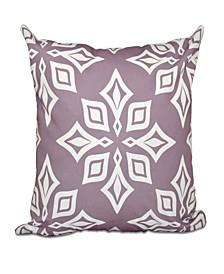Beach Star 16 Inch Light Purple Decorative Geometric Throw Pillow