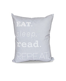 My Mantra 16 Inch Gray Decorative Word Print Throw Pillow